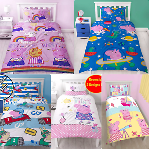 REDUCED-Peppa-Pig-George-Pig-Single-Duvet-Cover-amp-Pillowcase-Kids-Bed-Sets