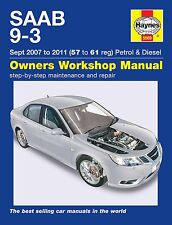Haynes Manual Saab 9-3 93 Petrol & Diesel 2007-2011 5569 NEW