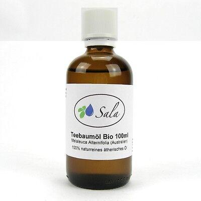 KS (8,90/100ml) Sala Bio Teebaumöl naturrein ätherisches Teebaum Öl 100 ml Glas