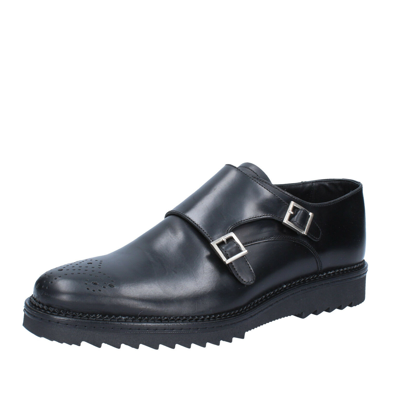 Mens shoes SALVO BARONE 8 ( EU 42 ) elegant black leather  BZ151-E