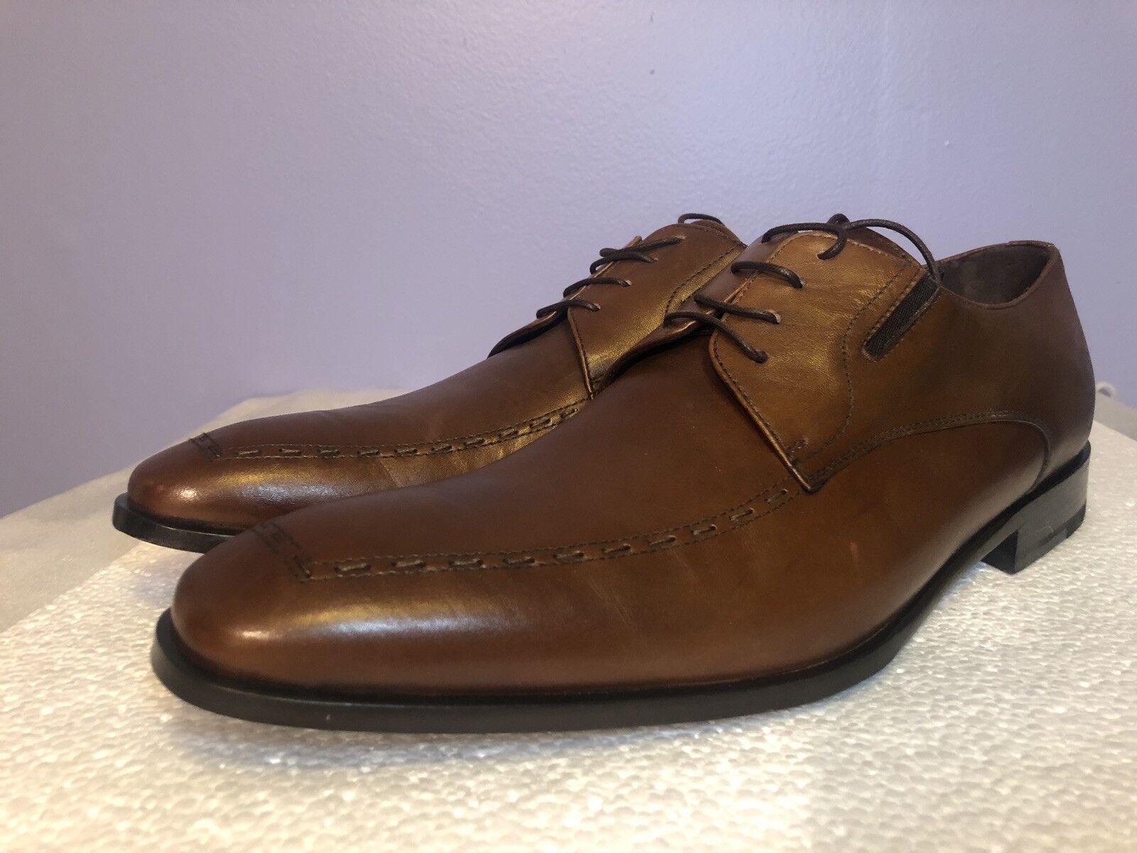 Bruno Magli  Riskor  Brown Men's Size 11.5 US Hand Made in  Whip Stitch