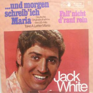"""7"""" 1969 CV in VG + +! Jack White: e domani mi scrittura Maria"""