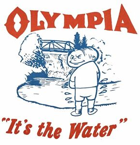 Olympia Oly Stubby Beer Brewery Sticker Vinyl Classic Retro Old School Beer Can