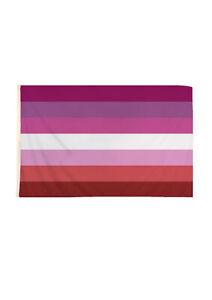 New Adult Unisex Lesbian Pride Flag 5ft x 3ft Gay Pink Fancy Dress Accessory UK