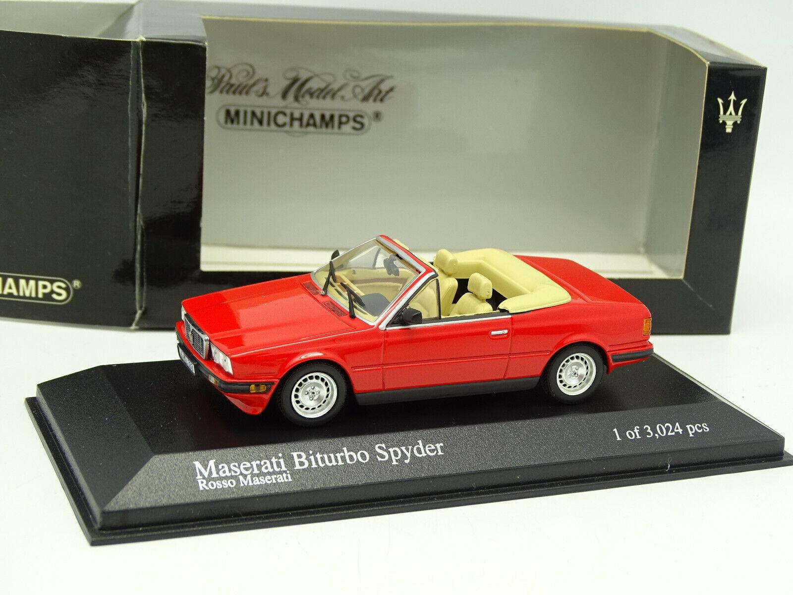 Minichamps 1 43 - maserati biturbo spyder red