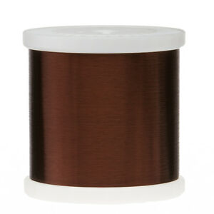 42 awg gauge plain enamel copper magnet wire 50 lbs 00027 105c image is loading 42 awg gauge plain enamel copper magnet wire greentooth Images