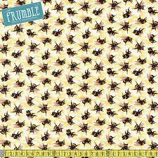 Paintbrush Studio Fabric You Bug Me Bees Yellow PER METRE Bumble Bee Buzz Honey