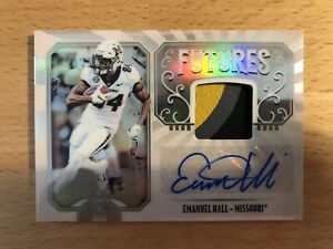 low priced 5ff95 96d1e Details about Emanuel Hall 2019 Panini Legacy Futures Rookie Auto 3cl  Jersey Patch Bears