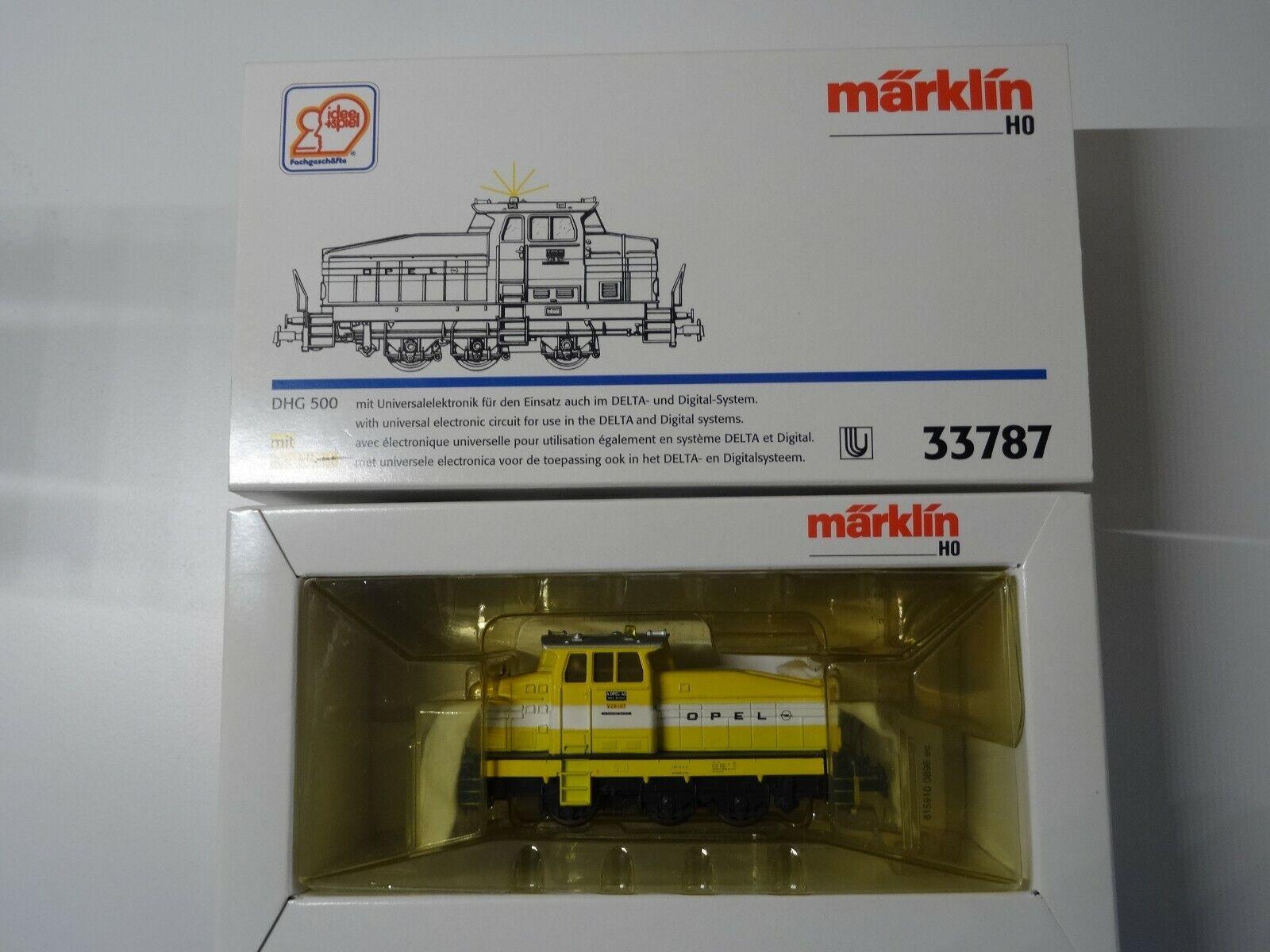 Märklin HO ART 33787 diesel DHG 500 con segnalatori lampeggianti, così-SERIE eeuro OVP NUOVO
