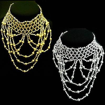 Bollywood Danza Del Ventre Belly Dance Collana Collare Gioielli Necklace Elastici- Durevole In Uso