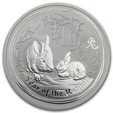 2011 2 oz Silver Australian Perth Mint Lunar Year of the Rabbit Coin -SKU #59014