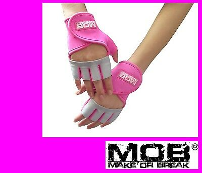 Super HOT Pink MOB crossfit pump class cycling weightlifting exercise gym gloves