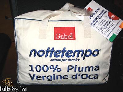 Piumino Gabel In Piuma Vergine D'oca Bianco Caldo Piumone Lettino Neonato