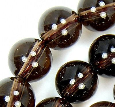 """8mm Natural Smoky Quartz Round Beads 15.5"""""""