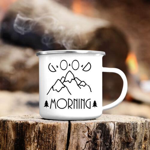 Camping Gobelet Good Morning montagnes EMAILLE cb313 Outdoor Café Gobelet Tasse