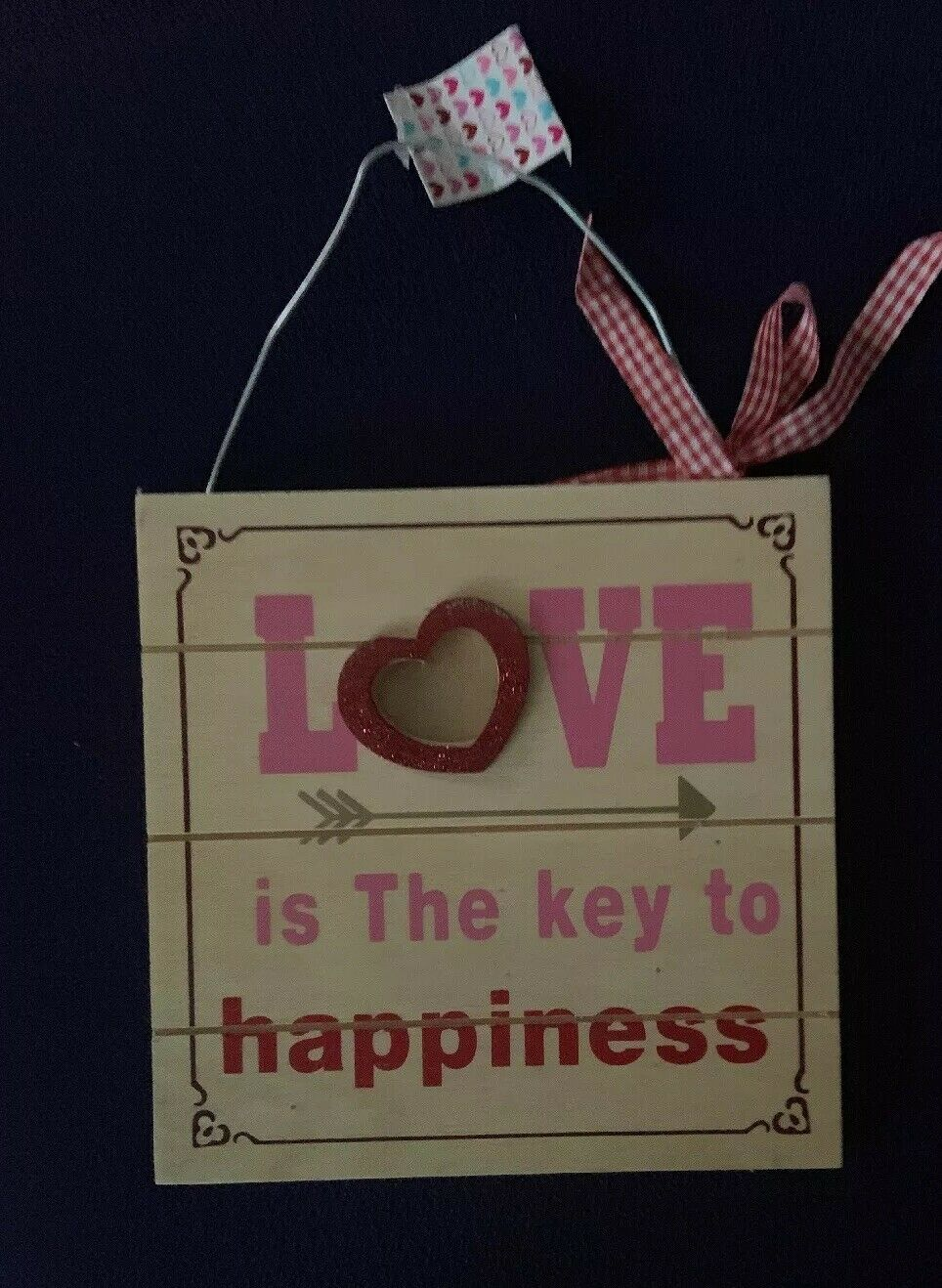 Love Is The Key To Happiness Wall Decor from i.ebayimg.com