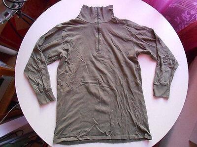 Rolli Con Collo Alto + Lampo; Sotto Camicia, Tg. 4/38, 100% Cot. Verde Oliva,, Buwe-