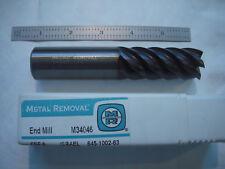 """NEW METAL REMOVAL CARBIDE ENDMILL 1/"""" CUT X 2 1//4/"""" LOC X 5/"""" OAL SQ END CC 6FL"""