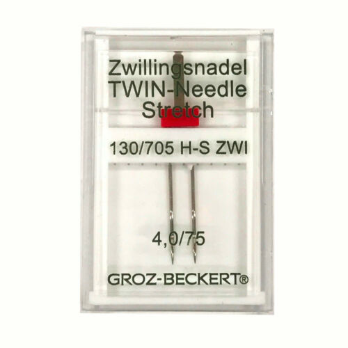 Size 4.0//75 Stretch Sewing Needle Groz-Beckert 130//705H-S ZWI Twin Needle