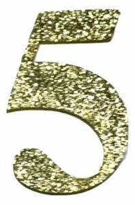 "Gold glitter 2/"" letter J padded appliqués DIY craft supplies hair bows"