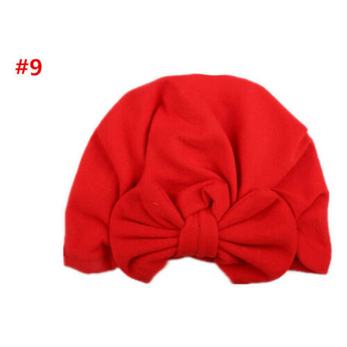Cute New Toddler Kids Baby Boy Girl Turban Cotton Beanie Hat Winter Warm Cap