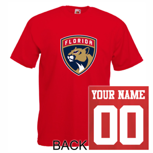 purchase cheap 374a7 636ab Details about Florida Panthers shirt tee jersey custom name number kid men  lady hockey