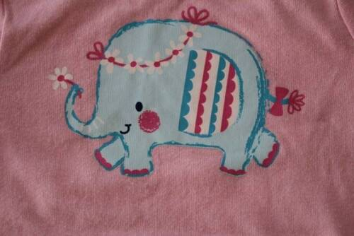 Baby Girls 3-6 Months Bodysuit Creeper Outfit Infant One Piece Pink Elephant