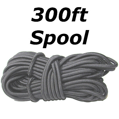 "300ft Spool 3//8/"" White Bungee Cord Marine Grade Heavy Duty Shock Rope Stretch"