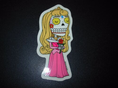 AURORA Sleeping Beauty disney MUERTO Art Sticker Print DIA DE LOS JOSE PULIDO