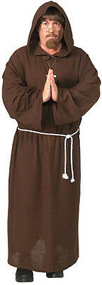 New Adult Friar Tuck Deluxe Hooded Monk Robe Costume Renaissance Robin Hood XL