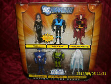 DC UNIVERSE JUSTICE LEAGUE UNLIMITED PACKAGED SET OF 6 MUTINY IN THE RANKS