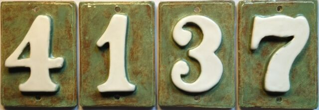 Address / Mailbox Post numbers - Applewood Pottery  Weatherproof.w or wo holes