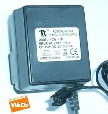 YX AC/DC ADAPTER YX01-18 CLASS 2 POWER SUPPLY DC12V 300mA UK PLUG
