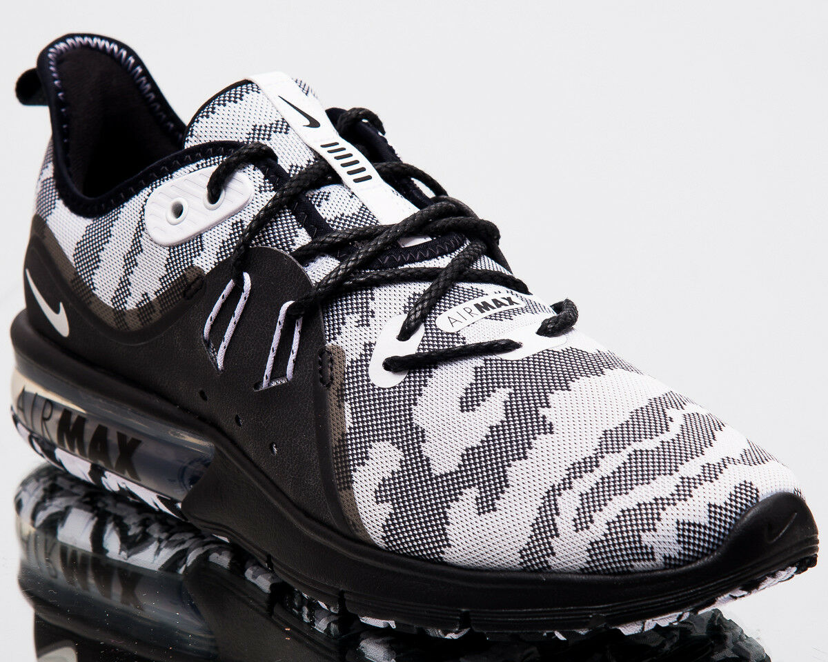 Nike Air Max Sequent 3 Premium Camo Men New Running Shoes Black White AR0251-001