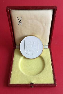 DDR Porzellan Medaille mit OVP VEB PALLA MEERANE 1968