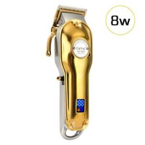 Kemei-1986-All-metal-Professional-Cordless-Hair-Clipper-Trimmer-Gold-Color