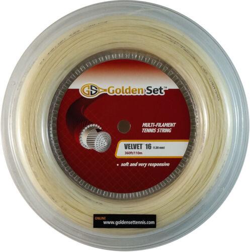 GSI Velvet 16 natural color tennis string 360/' Reel