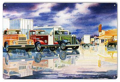 Husky Gas Station Reproduction Motor Oil Sign By Jack Schmitt 12x18