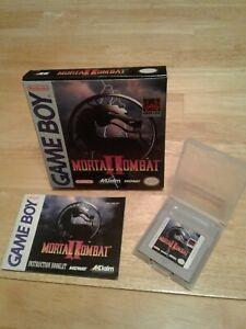 Original 1994 Nintendo Gameboy game Mortal Kombat 2 with box and manual
