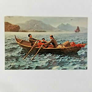 Vintage-1977-Postcard-The-Helping-Hand-by-Hans-Dahl-Unposted