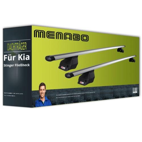 Dachträger für Kia Stinger Fließheck Typ CK NEU kpl. Menabo Tema Aluminium
