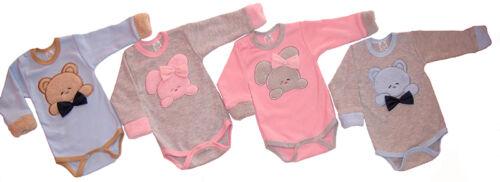 68 74 Baumwolle 62 Baby Body mit langen Ärmeln PUCH Babybody langarm Gr