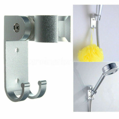 Aluminum Bathroom Stand Bracket Wall Mount Shower Head Holder Hook Adjustable