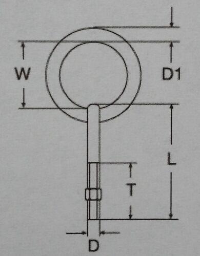 1 Stk Augbolzen Ringbolzen Ringschraube EDELSTAHL A4 metrisch M10X80 mit RING