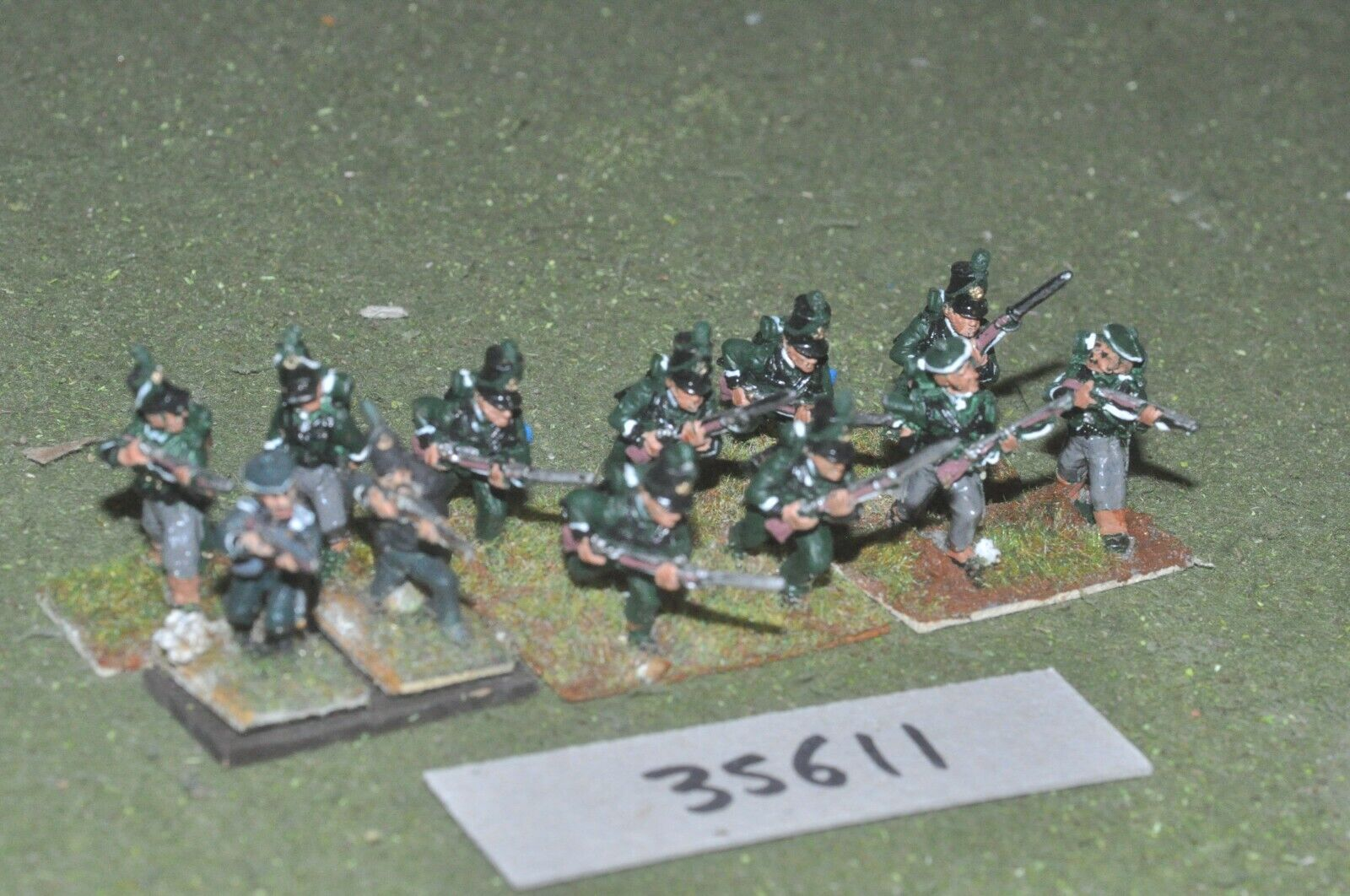 25mm napoleonic   british - riflemen 12 figures - inf (35611)