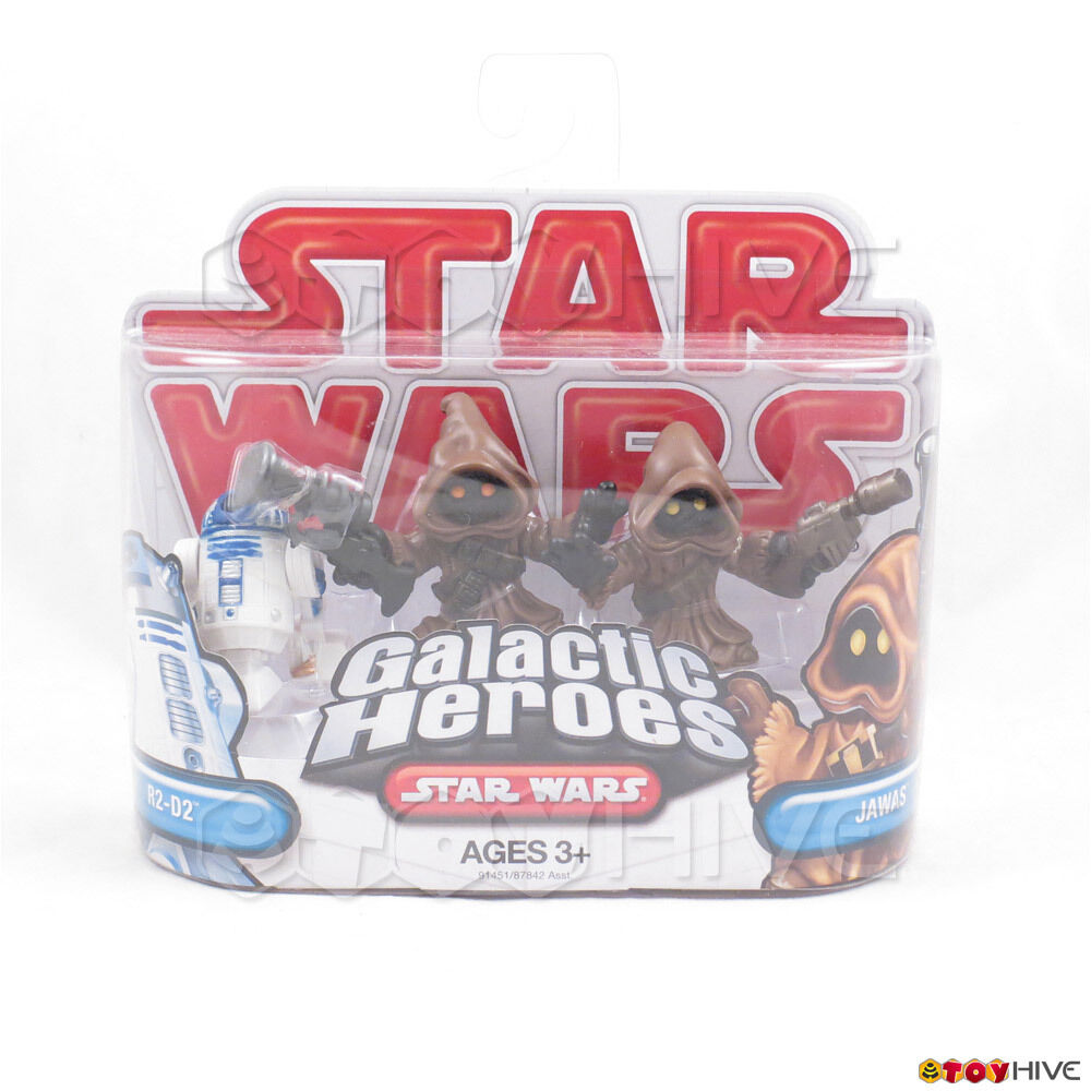 Star Wars Galactic Galactic Galactic Heroes R2-D2 droid and 2 jawas sealed set from 2009 Hasbro 4865eb