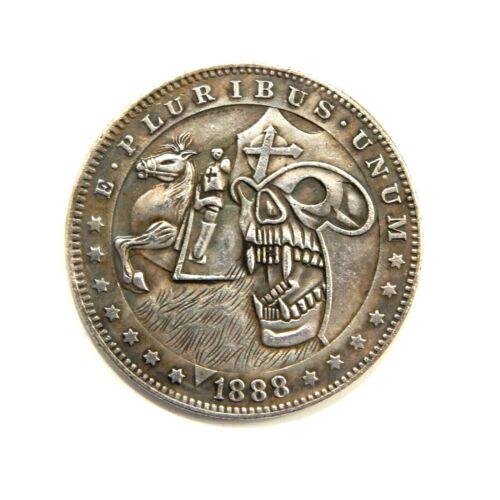 TOKEN NICKELS SOUVENIR DOLLAR 1888 EXONUMIA SILVERED COIN HOBO USA