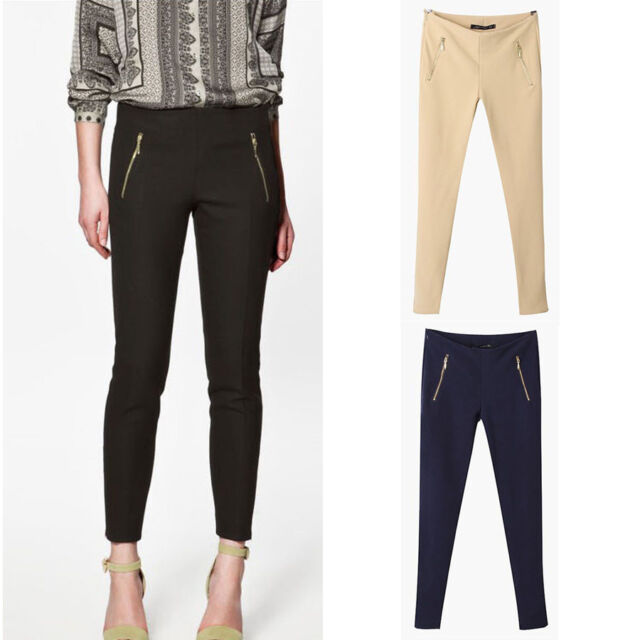Women's Skinny Slim Fitness Autumn Casual Work Long Pencil Pants Tight Trousers