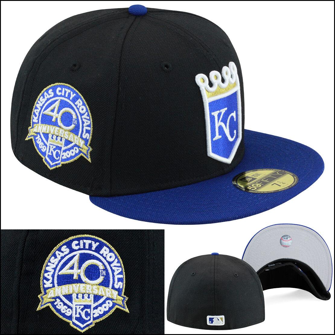 super popular 1b186 ec6d0 ireland new era kansas city kc royals fitted hat black royal gold 40th  anniversary e2c90 b292b