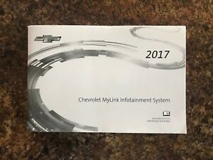 Details About 2017 Chevrolet Mylink Infotainment Navigation System Owners Manual Cruze Volt